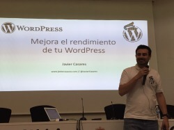 Javier Casares en Wordpress Day Cantabria